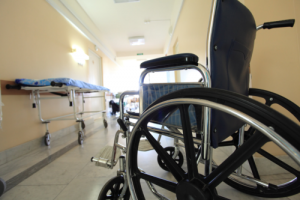 wheelchair in a hospital